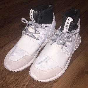 Adidas Men's Tubular Doom High Top Sneaker White